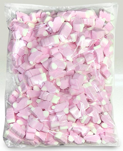 WOS02 EASTER BUNNY PINK & WHITE MALLOWS 1KG